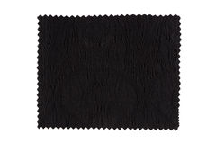Black fabric swatch Stock Image
