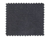 Black fabric swatch samples isolated on white. Background stock image