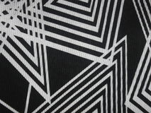Black fabric texture with angular white lines Royalty Free Stock Image