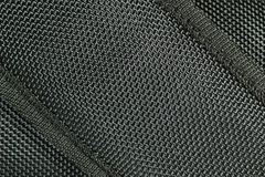 Black Fabric Texture Background Stock Image