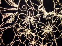 Black fabric texture. Suitable as background Royalty Free Stock Photo