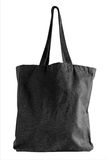 Black fabric tote bag Stock Photography