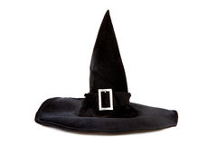 Black fabric witch hat for Halloween Royalty Free Stock Photography