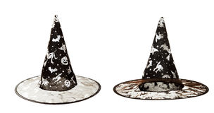 Black fabric witch hat for Halloween Royalty Free Stock Photos