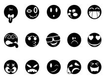 Black face icons Royalty Free Stock Photo