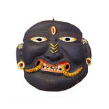 Black Face - old Nepali mask. Souvenir in Kathmandu isolated object Royalty Free Stock Image