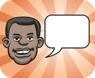 Black face with speech bubble. Vector illustration of black face with speech bubble royalty free illustration