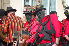 Black faced morris dancers Royalty Free Stock Photo