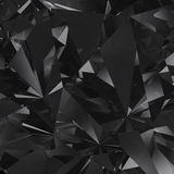 Black facet background. Black clear crystal facet background vector illustration