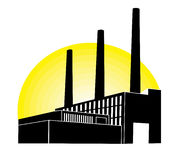 Black Factory Royalty Free Stock Photo