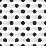 Black faded circles pattern on white background stock illustration
