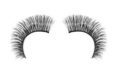 Black false eyelash isolated on white Royalty Free Stock Photo