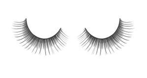 Black false eyelashes royalty free stock image