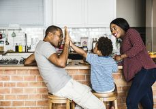 Black family spending time together Stock Photography