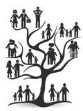 Black family tree. Isolated black family tree from white background royalty free illustration