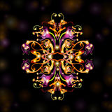 Black fantasy bright background space. There is a abstract fictional plant background Stock Image