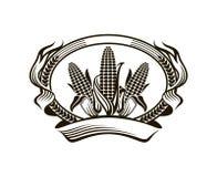 Corn vegetable emblem Royalty Free Stock Photos