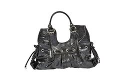 Black fashion bag Royalty Free Stock Photo