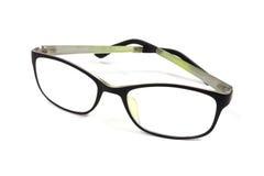 Black fashion glasses on white Royalty Free Stock Images