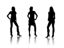 Black fashion ladies Stock Image
