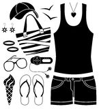 Black fashion set. Stock Image