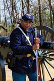 Black Federal Soldier On Guard Royalty Free Stock Photos