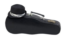 Black Fedora On Music Case With Handle