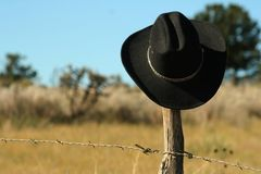 Black Felt Cowboy Hat Royalty Free Stock Photos