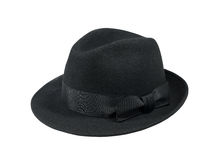Black felt hat Stock Photos