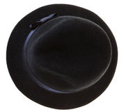 Black felt man's hat stock photos