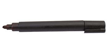 Black felt tip marker isolated. On a white background Royalty Free Stock Image