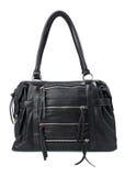 Black female bag isolated over white Stock Image