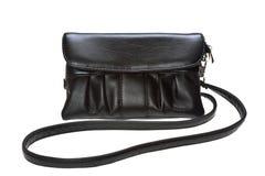 Black female bag on white background Royalty Free Stock Photo