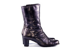 Black female boots Stock Image