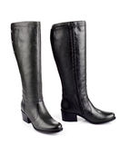 Black female boots Royalty Free Stock Images
