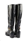 Black female boots Stock Photo