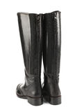 Black female boots Stock Images