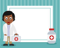 Black Female Doctor Horizontal Frame Stock Images