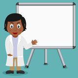 Black Female Doctor with Magnetic Board Royalty Free Stock Photography