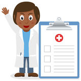 Black Female Doctor with Medical Record Stock Photography