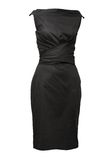 Black female dress isolated on white Royalty Free Stock Images