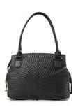 Black female handbag over white Royalty Free Stock Images