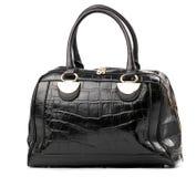 Black female handbag over white Stock Images