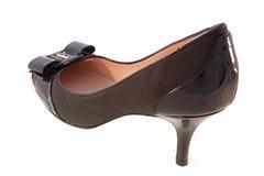 Black Female High Heels Isolated on White Backgrou Stock Images