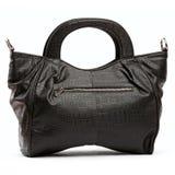 Black female leather handbag Royalty Free Stock Photos