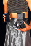 Black female photographer Stock Images