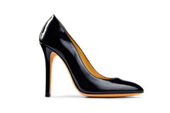 Black female shoe -3 Royalty Free Stock Image