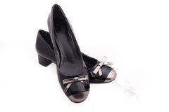 Black female shoes Royalty Free Stock Image