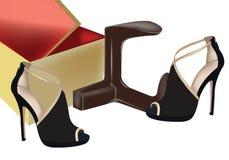 Black female shoes Royalty Free Stock Photo