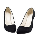Black female shoes Stock Image